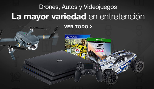 Drones, Autos y Video Juegos