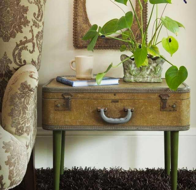10 ideas para decorar con maletas vintage - Maletas antiguas decoracion ...