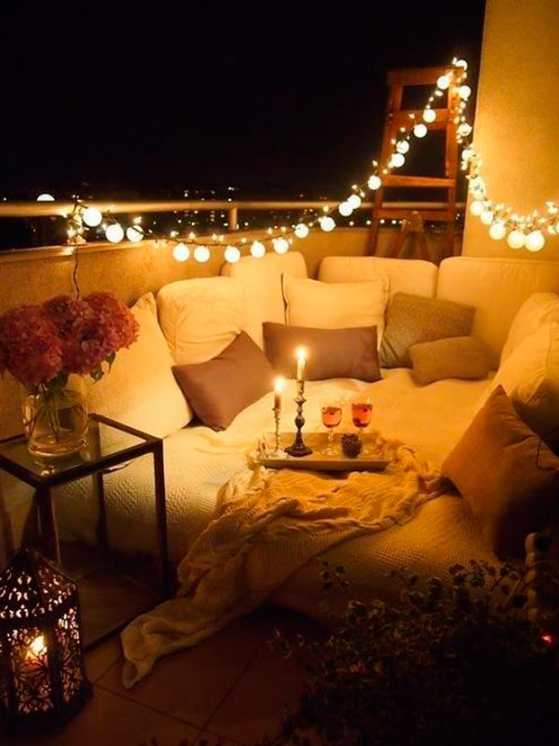 10 ideas para decorar usando guirnaldas luces terraza