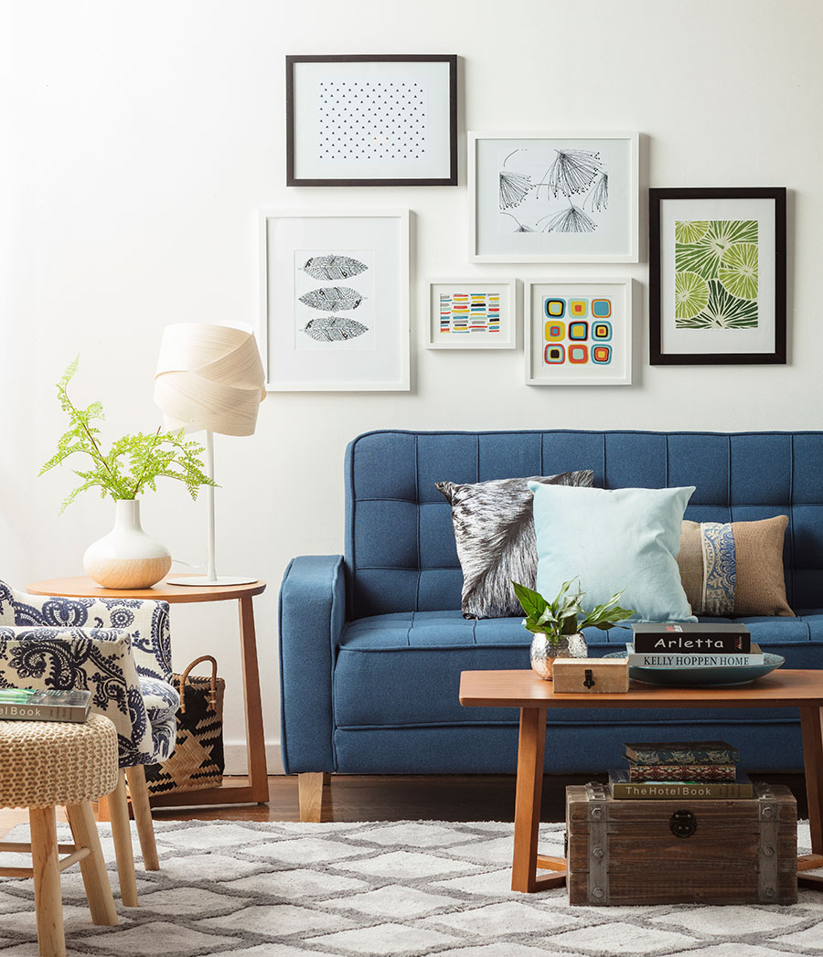 7 ideas para decorar los muros de tu living for Fotos de living modernos