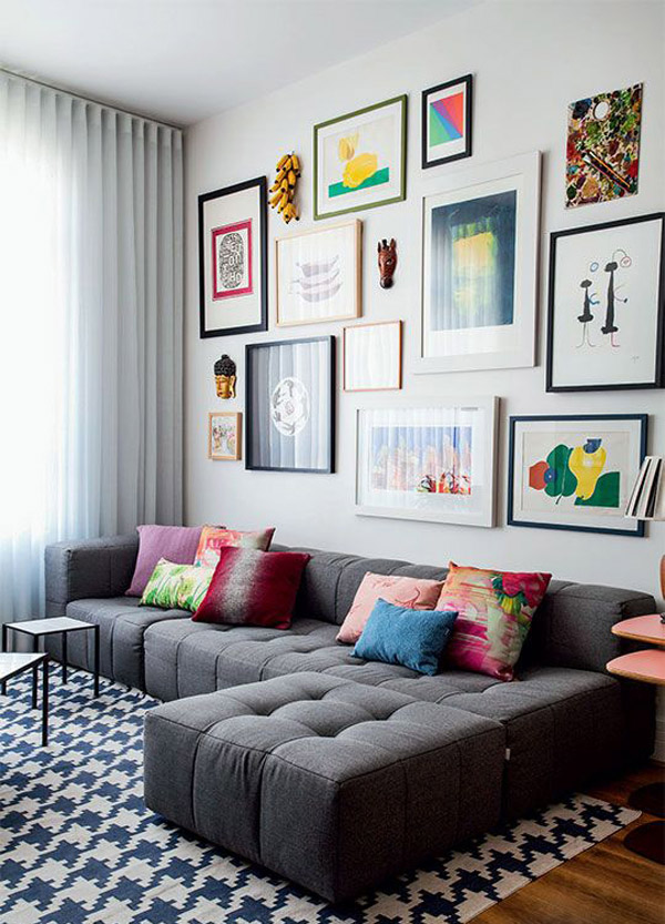 7 ideas para decorar los muros de tu living for Decorar paredes living