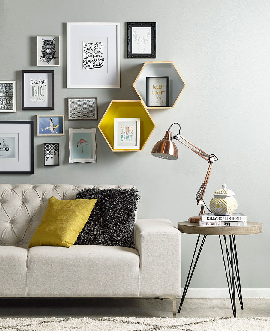7 ideas para decorar los muros de tu living for Articulos para decorar interiores