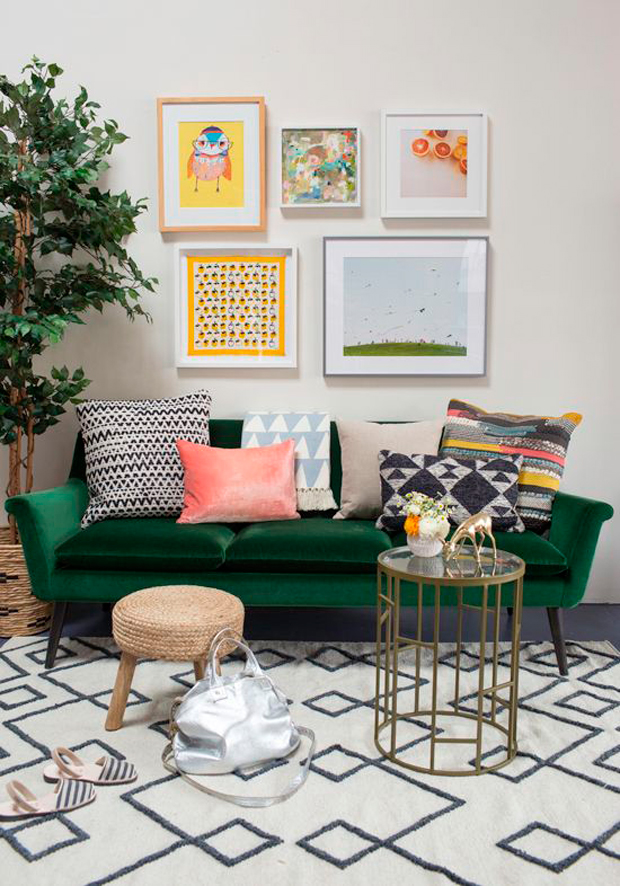Las claves para decorar un living de inspiracin retro