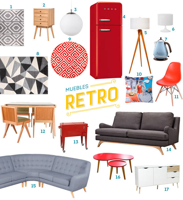 Las claves para decorar un living de inspiración retro