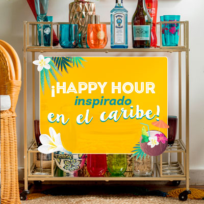 ¡Happy hour inspirado en el caribe!