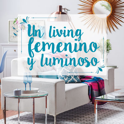 Living femenino y luminoso