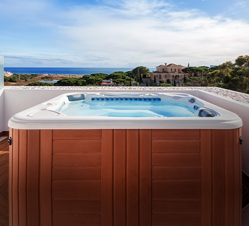 Spa exterior y hot tubs