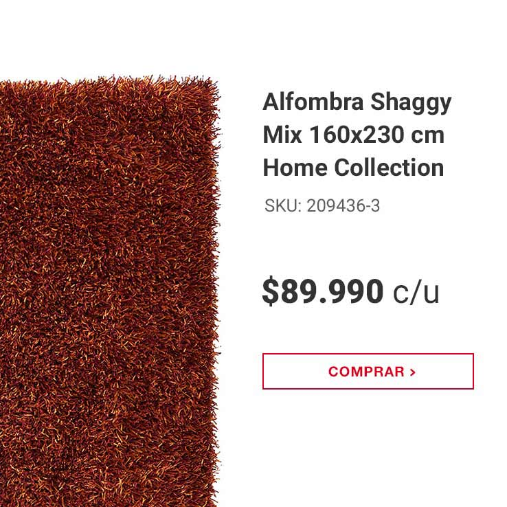 Alfombra Shaggy Mix 160x230 cm Home Collection