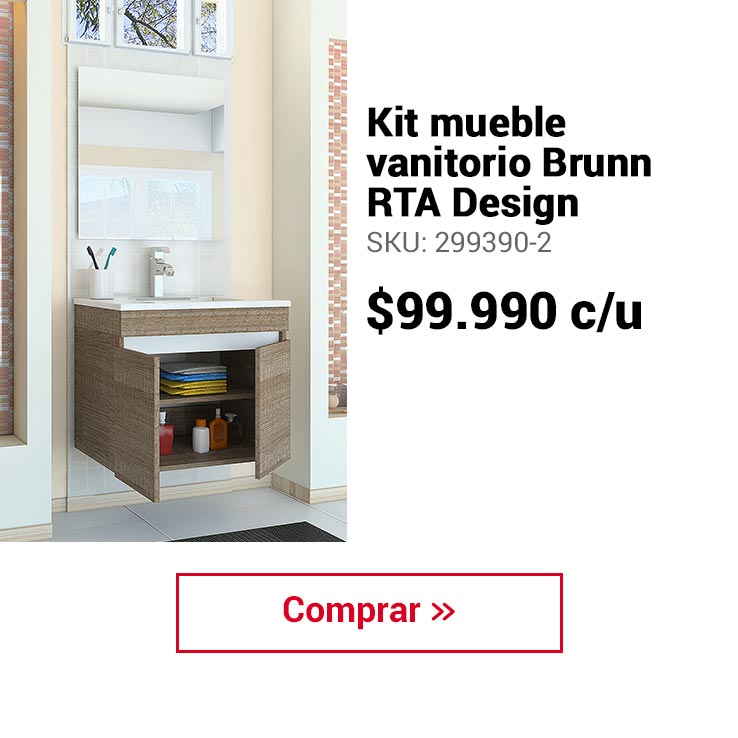 Kit mueble vanitorio Brunn RTA Design