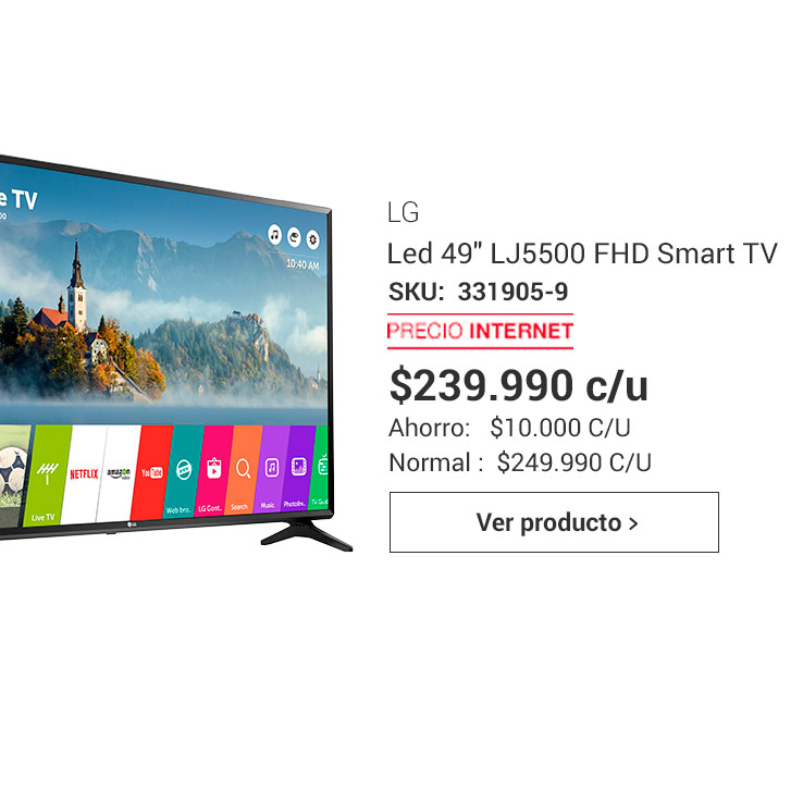 Led 49 LJ5500 FHD Smart TV LG