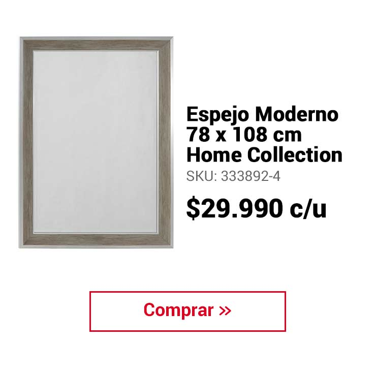 Espejo Moderno 78x108 cm Home Collection