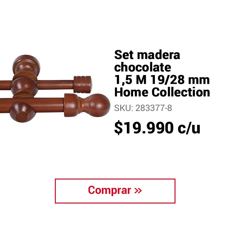 SET MADERA CHOC 1,5M 19/28MM Home Collection