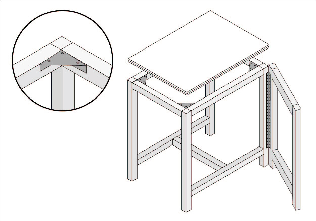 Construir mesa plegable como hacer mesa plegable with - Construir mesa plegable ...