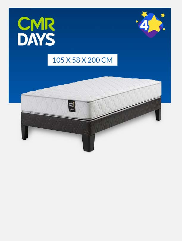 Cama Europea Ergo T 1.5 plazas long